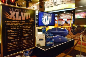 Casinos Super Bowl: The Golden Nugget was ready Friday with a Super Bowl display.  - Ben Fogletto