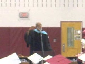 Former U.S. Olympian John W. Carlos speaks at Pleasantville High School graduation