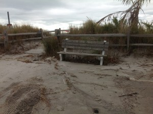 Sandy bench