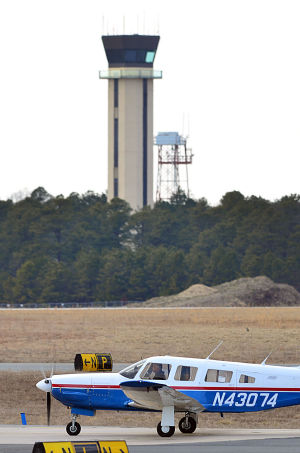 Sequestration: Atlantic City International Airport tower, EHT. Monday February 25.  - Photo by Ben Fogletto