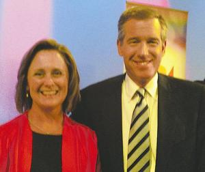 Karen White and NBC Nightly News anchor Brian Williams