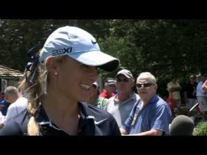 Amanda Blumenherst's First Round Interview at the 2013 ShopRite LPGA Classic presented by Acer