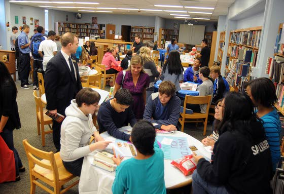 Oakcrest H.S. students have chance to get up close, personal with politics
