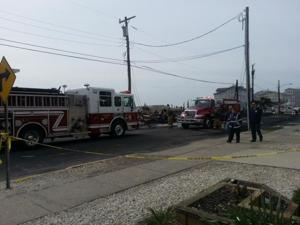 Sea Isle City fire scene