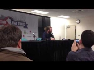 Scott Hartnell's post-game Operation Hat Trick interview