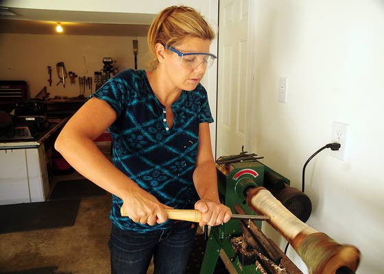Somers Point woman adept at turning potential of piece of fallen tree into art