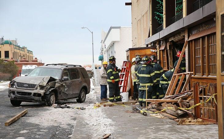 Car Hits Irish Pub