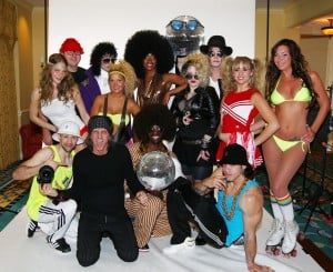 Boogie Nights cast with Mark Weiss