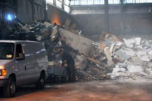 Sandy effect on Landfills