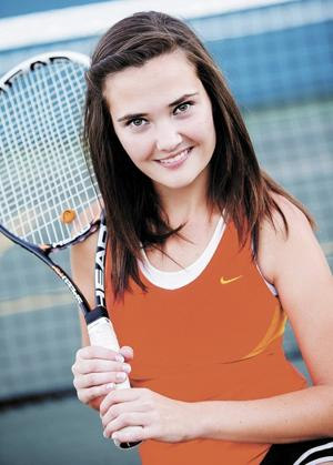 Tennis team's Welch goes out with a bang