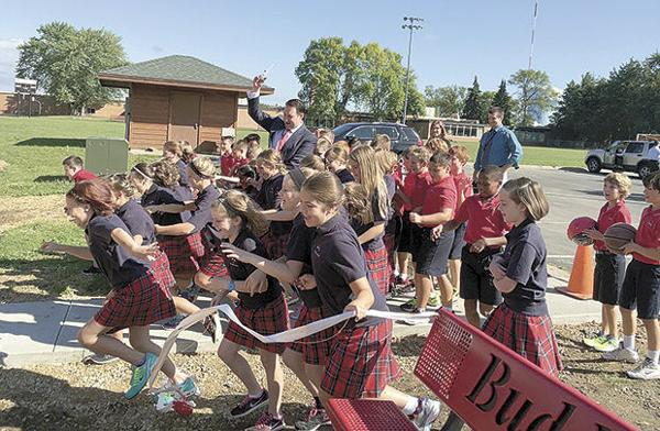 New playground a hit with St. Odilia students