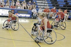 Local wheelchair basketball player