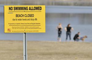 Low water closes down Ramsey Beach