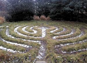 Labyrinths invite quiet winter meditation