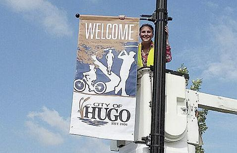 New banners for downtown Hugo