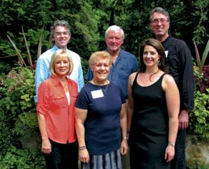 <p><strong>Pictured at left are (front, from left) concert pianist Linda Sweetman-Waters, CCS Board of Trustees President Lori McHugh, soprano Megan Knapp, (back row) event hosts Bob McWilliam and Wesley Rouse, and CCS Artistic Director Eric Knapp. (O'Brien photos)</strong></p>