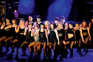 "<p><strong>The musical ""Chicago"" is running at the Thomaston Opera House, presented by Landmark Community Theatre, from April 24 to May 3. Pictured is Janina Gonzalez as Velma Kelly with cast from the ensemble. (Photo, Lisa Cherie Photography)</strong></p>"