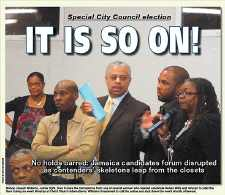 Council forum ends in sharp acrimony