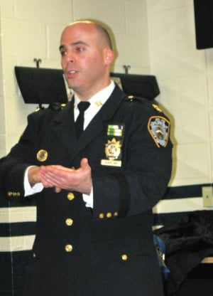 NYPD talks subway crime at 112th Pct. 1