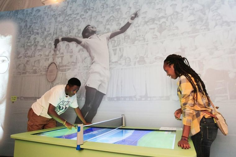 Interactive Arthur Ashe exhibit hits science hall 1