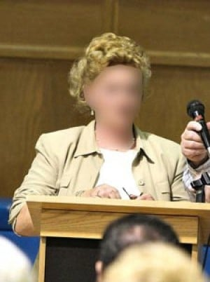 Gallagher Victim Speaks At Middle Village Meeting