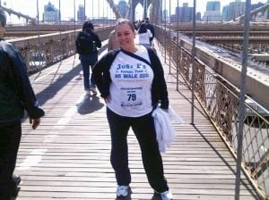 Walking to spread awareness of MS 1