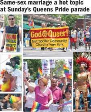 Same-sex marriage a hot topic at Queens Pride parade
