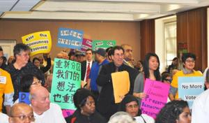 Hearing on district lines gets heated 2