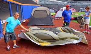 Mets host a sleepover at Citi Field