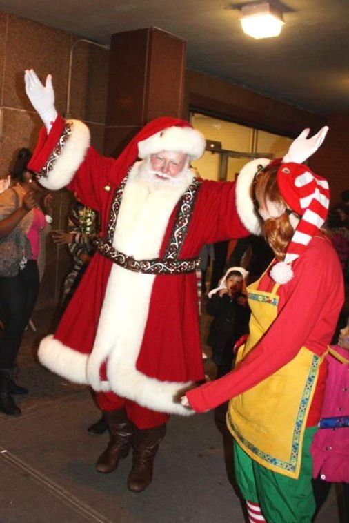 Santa Claus has arrived in Flushing