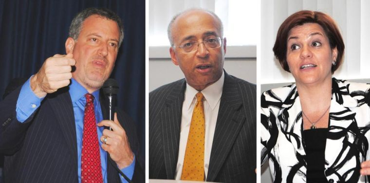 Thompson, Quinn back de Blasio 1