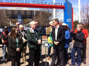 Civic leaders, Avella rally against USTA