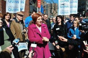 Quinn's quest for Queens' support 1