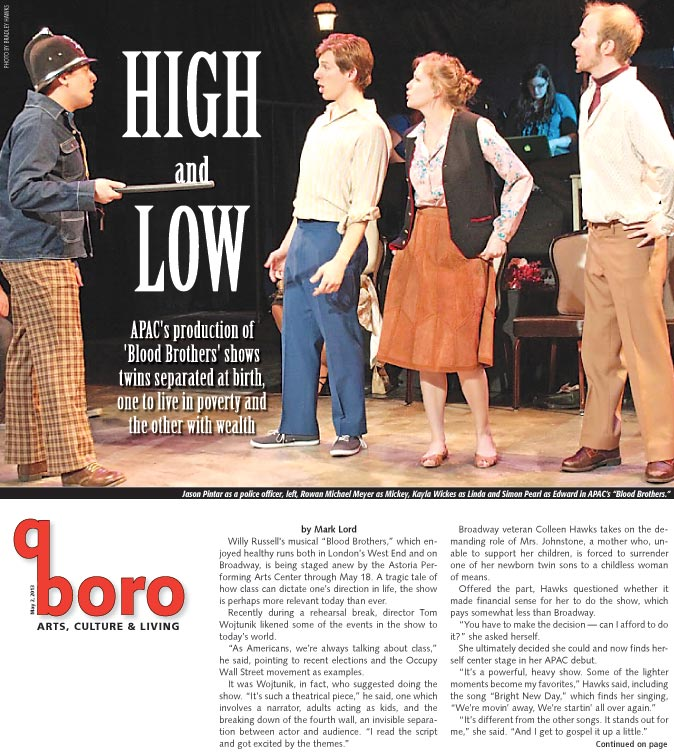 High and Low — APAC's production of 'Blood Brothers' 1