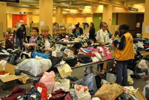 Hurricane relief drive booms at Atlas Park