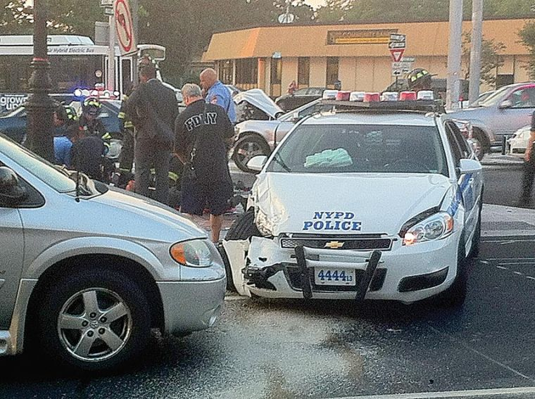 Cop car may have caused accident 1