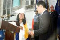 Chronicle publisher gives stirring speech to JAHS grads