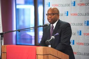 Midterm election talk at York College 1