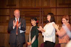 Nobel laureate honored at Queens College