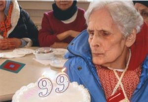 Blowing out the candles on ninety-nine! 2