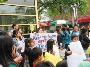 W. Queens: Library budget cuts protested