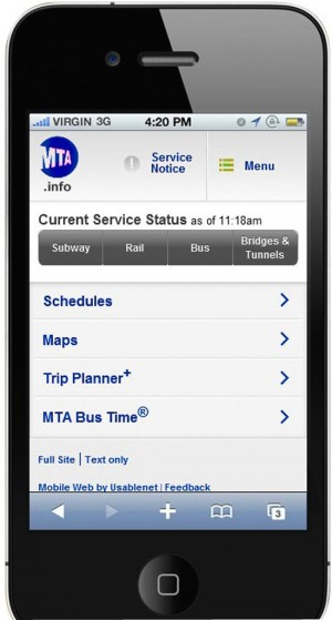 MTA relaunches its mobile website 1