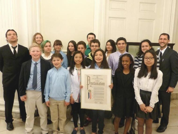 City honors jackson heights students queens chronicle for Garden school pool jackson heights