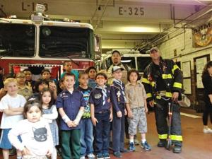 Pack 390 visits firehouse 1