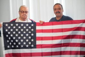 Meet Lindenwood's new 'Flag Man' 1