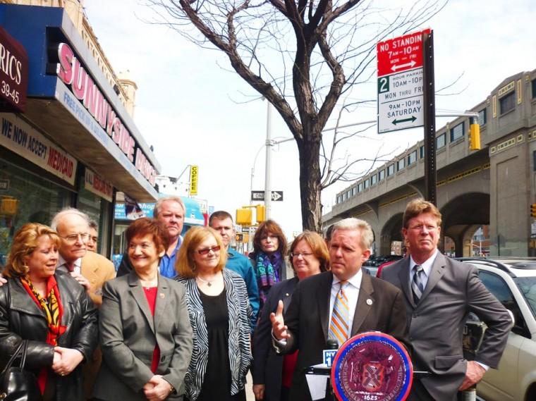 Sunnyside celebrates new parking regulation