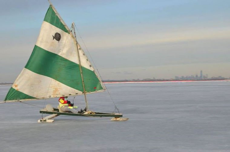 Making the best of a frozen Jamaica Bay 1