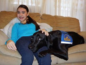 Canine helper aids College Point teen 1