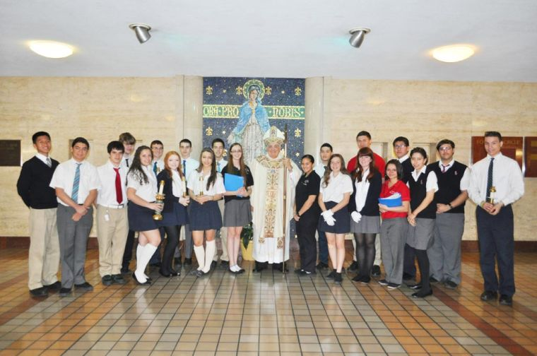 Bishop visits St. John's Prep 1