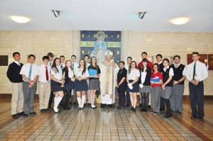 Bishop visits St. John's Prep 1